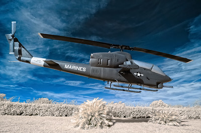 Marine Chopper April 11, 2009  Captured with an infrared-converted Nikon D70s.