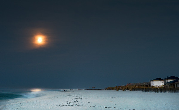 Moonset - Pensacola Beach March 24, 2008