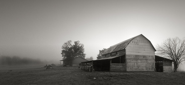 Backlit Barn, July 16, 2008
