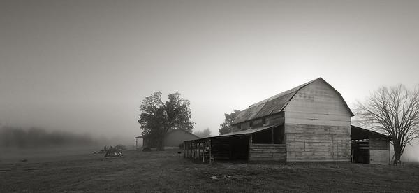Backlit Barn, July 16, 2008